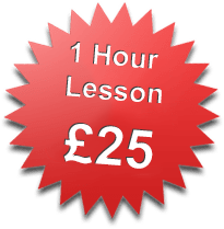 1 hour lesson only £25